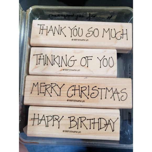 Stampin Up Greetings For You Various Greetings Wooden Stamps